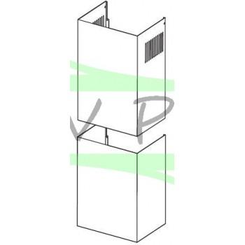 Cheminée blanche complète hotte GLEM XHP901WH