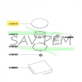 Verre de table à induction AIRLUX TIN3H diamètre 230 mm