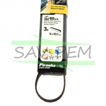 Abrasifs 6 mm pour lime BLACK & DECKER