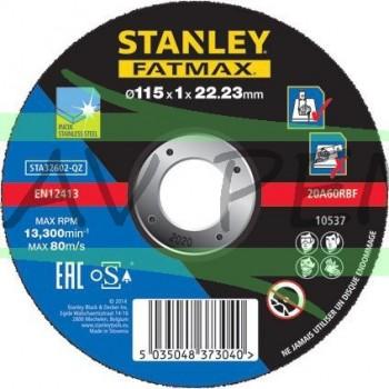 Disque à tronçonner spécial inox 115mm Stanley