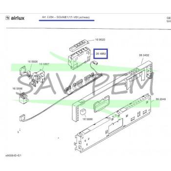 Programmateur lave vaisselle AIRLUX LV24/17, SGVAIE1