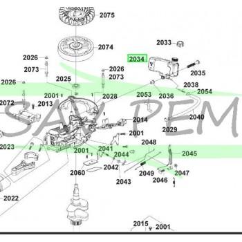 Réservoir d'essence tondeuse RYOBI RLM46160S