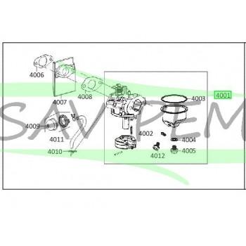 Carburateur pour tondeuse RYOBI modèle RLM53190YV