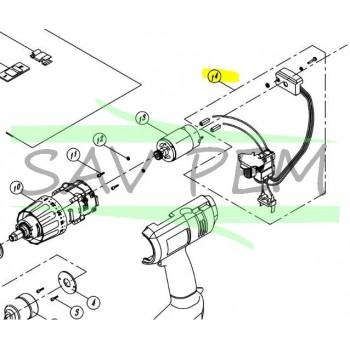 Interrupteur clé à choc RYOBI modèle CID1802M
