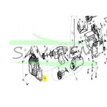 Lanceur tronçonneuses RYOBI RCS4240B - RCS3535CBPK1