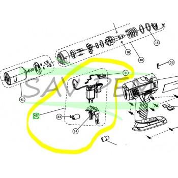 Interrupteur pour clé à choc RYOBI BIW180M - BIW180L13S