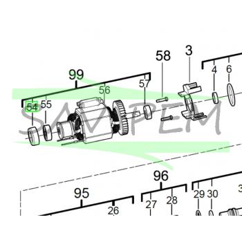Capuchon de roulement perforateurs AEG KH24IXE - BH24IE - KH24IE - 4931454464