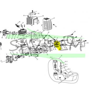 Embrayage débroussailleuse GREATLAND PBT4346 - PBT5244SPK
