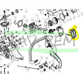 Filtre à air tronçonneuses RYOBI modèles RCS5145B - RCS5140B / 5131035253