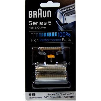 Grille et couteau 51S pour les rasoirs BRAUN série 5 - activator